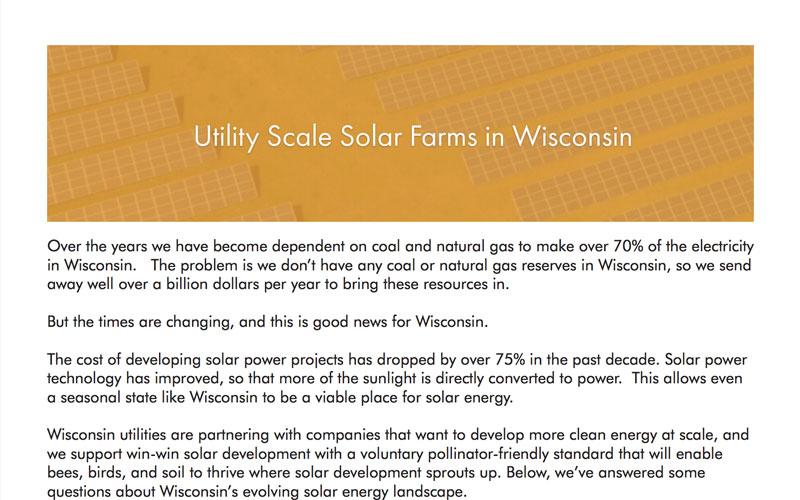 Solar Farms - RENEW Wisconsin