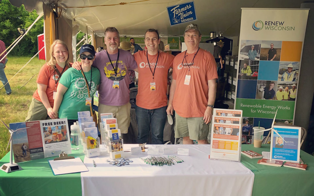 RENEW Wisconsin at the 30th Anniversary MREA Energy Fair