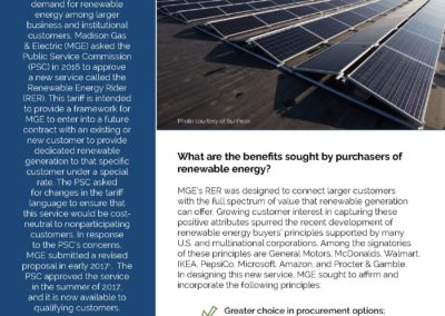 MGE Renewable Energy Rider