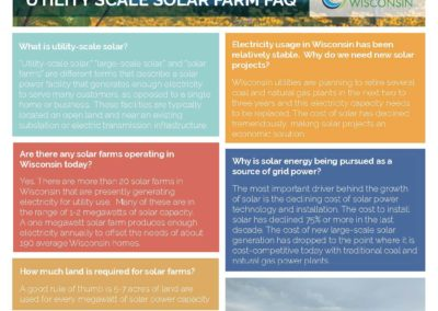 Utility Scale Solar Farms