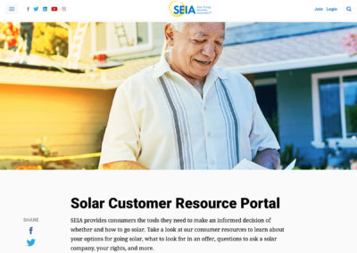 SEIA Solar Customer Resource Portal