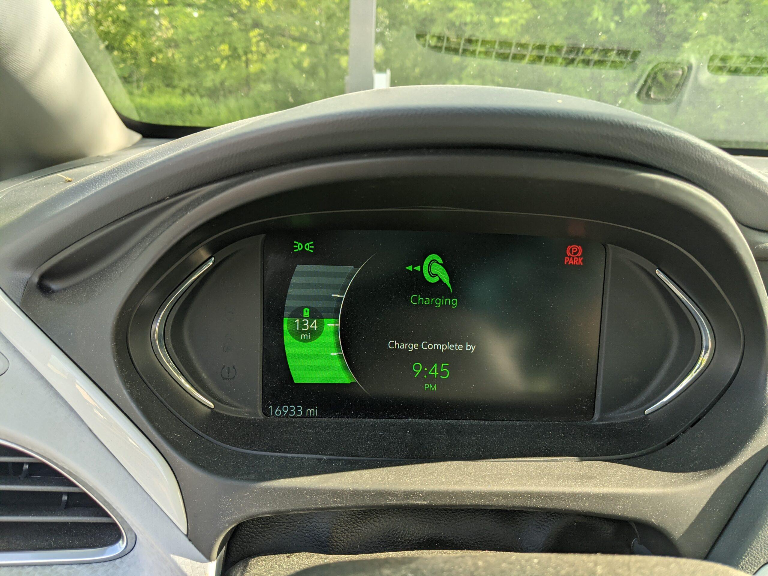 EV Trip Charge Time Estimate
