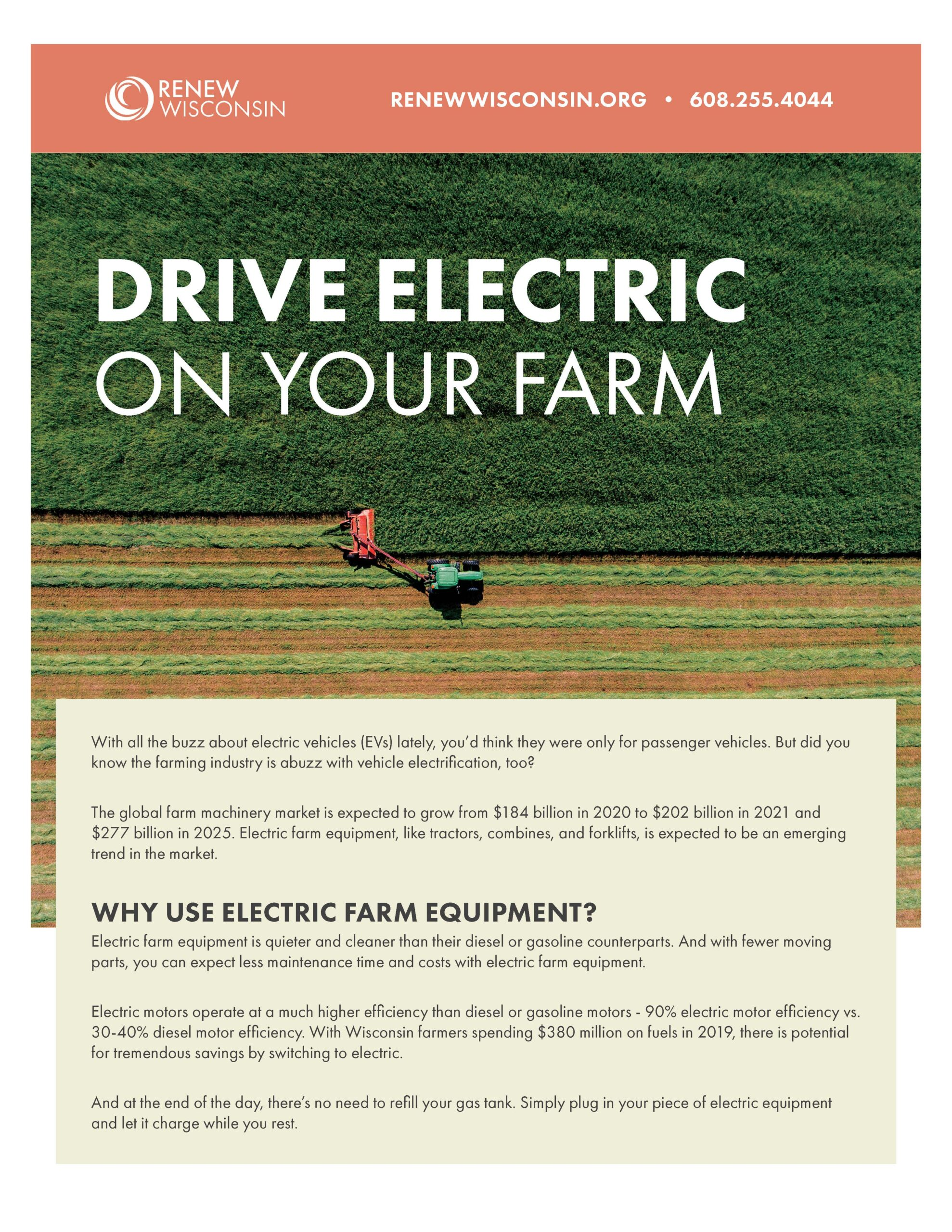 Electric Vehicles and Farms